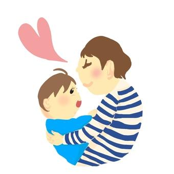 Baby and mama (hug)