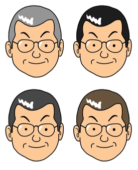 Uncle wearing glasses