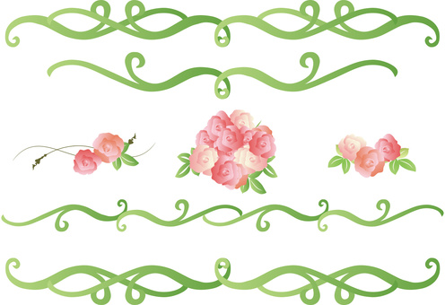 Rose Decoration Green