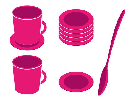 咖啡杯·勺子·杯墊06
