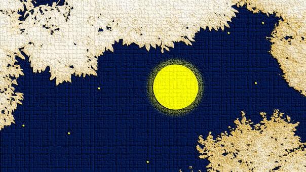 Night sky of full moon ②