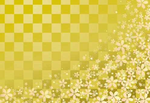 Sakuraguki / gold lattice base