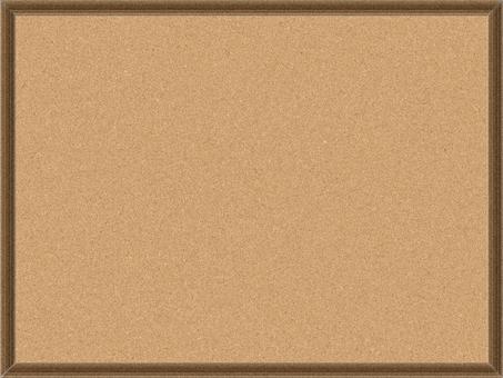 Woodgraining frame narrowed cork board