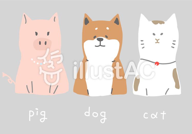 豚 犬 猫 イラストセットイラスト No 1345940無料イラストなら