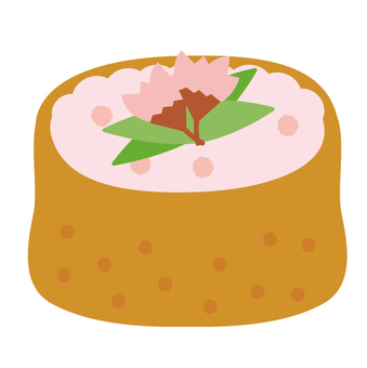 꽃놀이 도시락 유부 초밥