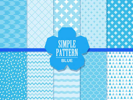 Simple pattern (blue)