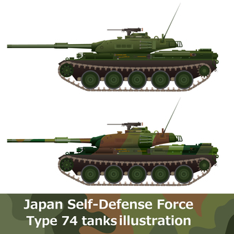 Self-Defense Force Vehicle Type 74 tank side