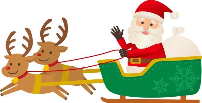 Santa Claus riding a sled