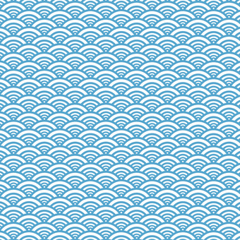 Japanese traditional pattern / Japanese pattern Qinghai wave