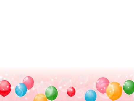 Balloon decorative frame 7