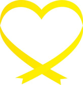 Heart in ribbon <Yellow>