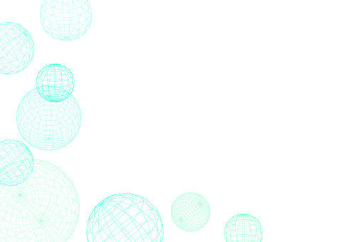 Spherical wire frame texture
