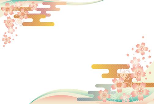 Cherry-blossom pattern Japanese pattern