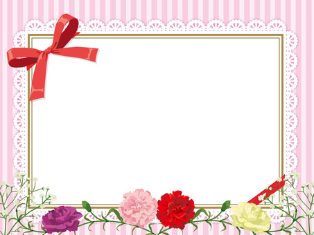 Mother's Day Carnation's Wreath Card Pink 2
