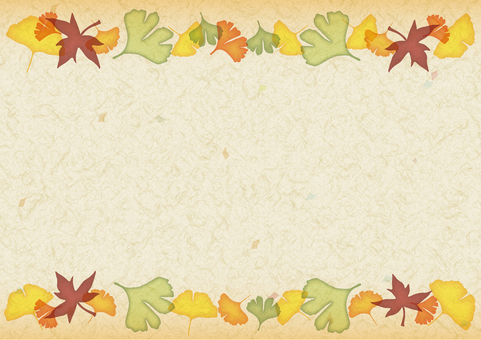 Fall decoration line Japanese paper · beige