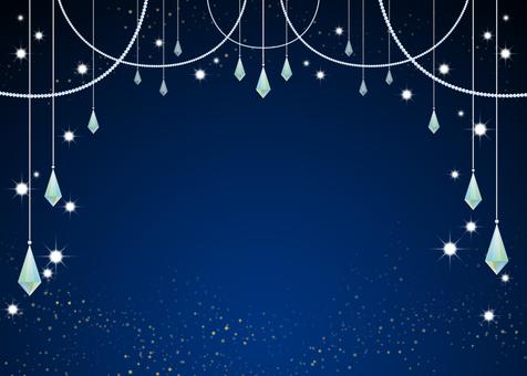 Glitter / Night / Jewelry / Frame
