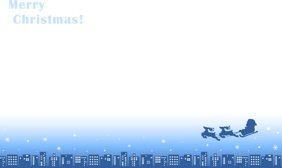 Christmas background blue