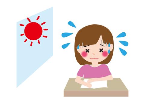 Children's classroom heat stroke girl