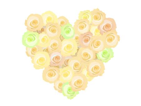 Rose heart Yellow
