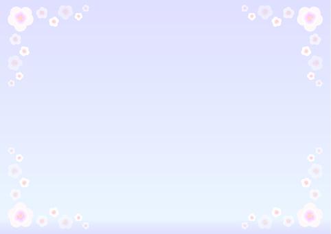 벚꽃 프레임 흰색