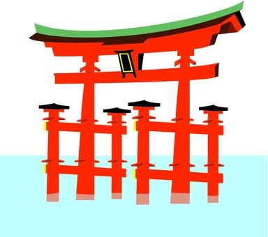 Otori at Itsukushima shrine