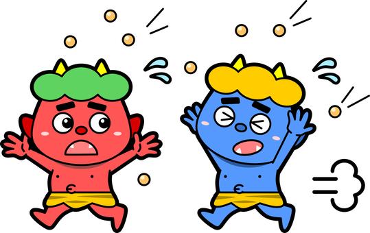Red demon and Aoki bean maki