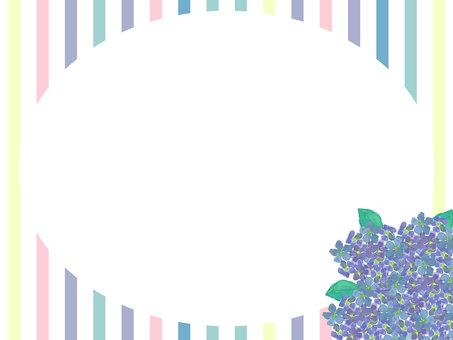 Hydrangea frame background