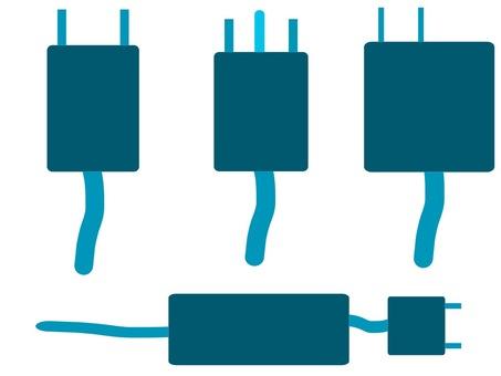 Outlet set color silhouette blue