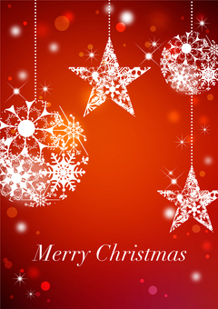 Christmas _ Red _ Vertical type