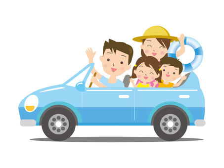 Driving in the summer family