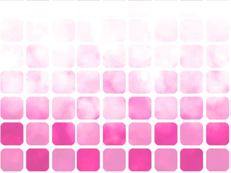 Watercolor style tile gradation pink
