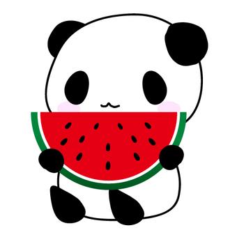 팬더와 수박의 일러스트 ①