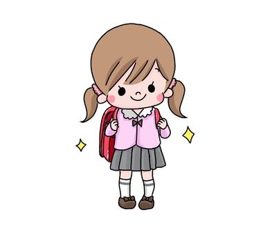 New first grader girl