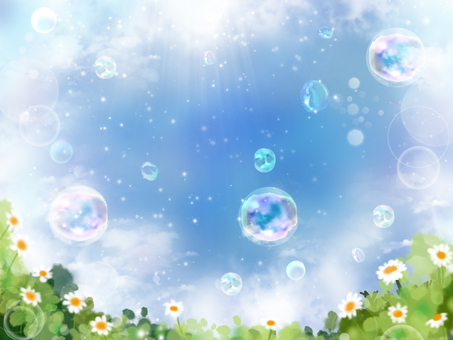 Wild flowers and soap bubbles