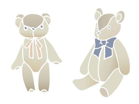 Stencil bear