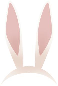 Rabbit ear headband white