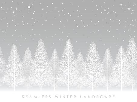 無縫的白雪皚皚的叢林