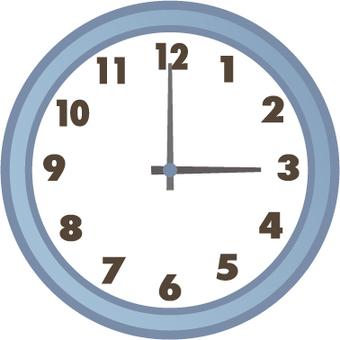 시계 3시