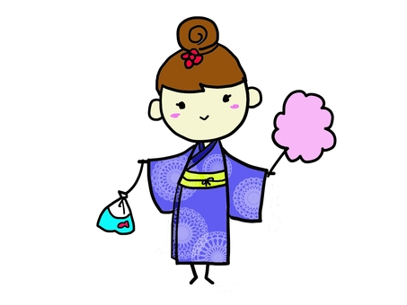 A girl in a yukata 1