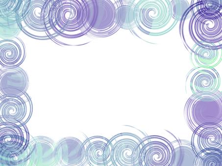 Swirling frame (purple)