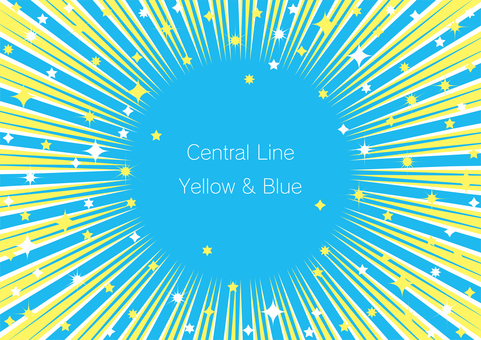 Yellow and light blue concentrated line