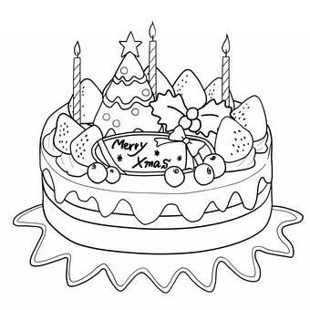 圣诞节蛋糕2线描