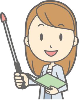 Female college student a - Instruction rod 1 Left oblique - Bust