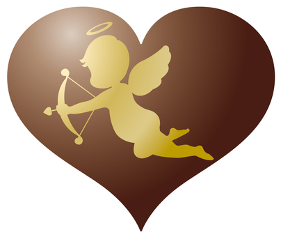 Cupid Gold Heart