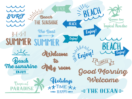 Summer Message Logo Set