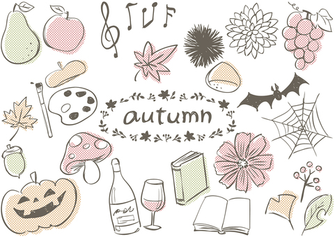 Sketch _ autumn dots