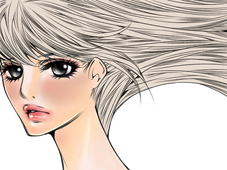 Female hair hair