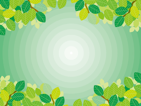 Pattern (53) Concentric circle and fresh green in summer