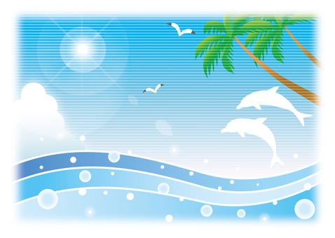 Summer sea resort background