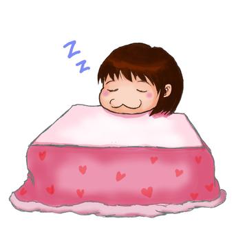 Snoozing with a kotatsu